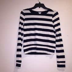 NWOT F21 Striped shirt Brand new shirt! Black and white stripes. New without tags.  Able to bundle for a cheaper price! Forever 21 Tops Blouses