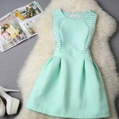Stylish Lady Women\'s Fashion Casual Sleeveless High Waist A-line Mini Dress $6.44