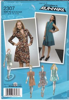 Simplicity Sewing Pattern 2307 Misses' Tucked Bodice by Ziatacraft