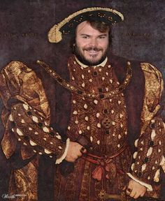 Jack Black (Celebrities edited into classic works of art)