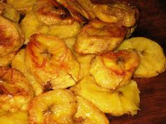 Baked plantain recipe - very tasty! (My husband made these the other night...he baked them at 400 instead of 450, and we just sprinkled them with salt after  they were done.)
