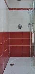 Swirl Red & White White Bathroom Tiles, Kitchen Tiles, Wall Tiles, Tile Floor, Red And White, Mosaic, Sink, Bathtub, Flooring