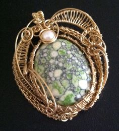 Ode to Spring, Wire Sculpted Pendant, Wire Woven Pendant OOAK by SparrowSongInDesign on Etsy