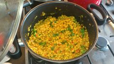 Split chickpea daal curry