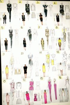 Model Board and Sketches backstage at Atelier Versace Spring Summer 2013 | PFW