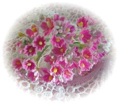 Vintage Millinery Flowers  Pink Forget Me by homesteadtreasures, $4.00