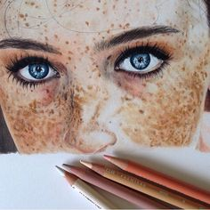 freckles//drawing