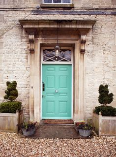 Mint turquoise door The Rectory Hotel Cotswolds