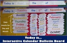 Back to School Days of the Week and Months of the Year Bulletin Board  