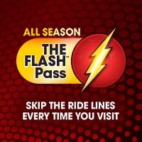 The Flash Pass Six Flags Great America Great America The Flash Waiting In Line