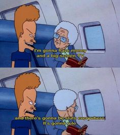 110 Best Beavis And Butthead Rock It Out Images Beavis And