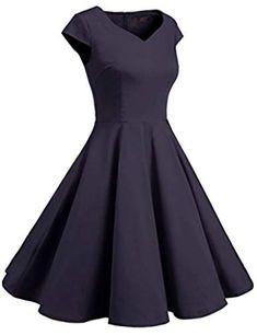 41281e63e8a4 Miusol® Womens Retro Hepburn Style Half Sleeve Swing Bridesmaid ...