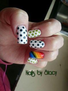 St. Pattys day nail art. @stacystancati