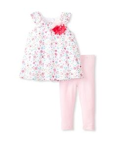 46% OFF Laura Ashley Girl's Floral Dress & Legging Set (Multi)