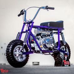 Bringing Back The Spirit - Taco Mini Bikes Custom Mini Bike, Custom Bikes, Moto Bike, Motorcycle Bike, Scooter Bike, Vintage Bikes, Vintage Motorcycles, Go Kart Kits, Mini Motorbike