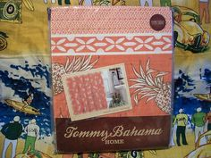 TOMMY BAHAMA PINEAPPLE ISLAND (TANGERINE) SHOWER CURTAIN N.I.P. $29.99 ending soon!!