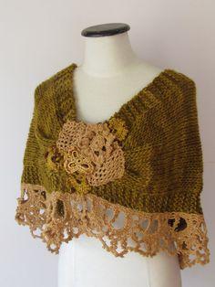 NEST I09/028 by laslopezlas on Etsy -- interesting combination of crochet & knitting! I love this!