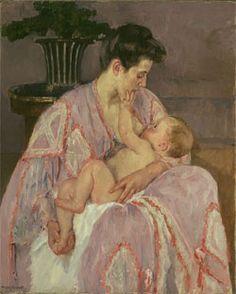 Mary Cassatt - Joven madre dando el pecho a su bebé  (1906 - The art institute of Chicago)