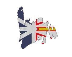 Newfoundland Island Flag Embroidery Design