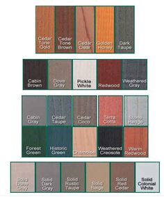 1000 images about remodeling ideas for our home on for Log cabin exterior stain colors