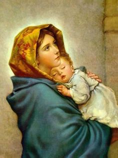Virgin Mary and Child Jesus POSTER print Madonna of the Streets picture Blessed Mother image Holy Mary painting Catholic Christian Religious Holy Wall Art Decor Gift for Home Room Kids Children Madonna Und Kind, Madonna And Child, Blessed Mother Mary, Blessed Virgin Mary, Catholic Art, Religious Art, Catholic Beliefs, Religious Pictures, Roman Catholic