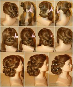 Long hair updo