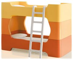 bunkbeds in oranges