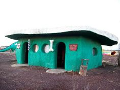 The barber shop and salon at the fading tourist stop of Bedrock City ...
