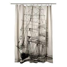 Ship Shower Curtain by SHOP Thomaspaul   Buy Handmade, Flax Shower Curtains and Bath Accessories Online!