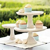 Oddly enough out of the like 20 cake stands I own....I do not own one plain white cake stand hmmm