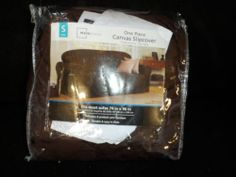 SOFA COVER, CANVAS, SLIP COVER.WARM CHOCOLATE BROWN. NEW IN PACKAGE