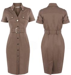 Nyc Dresses, Casual Dresses, Fashion Dresses, Dresses For Work, Spring Outfits Classy, Stylish Outfits, Dress Attire, Dress Outfits, Calf Length Dress
