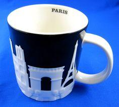 Starbucks Coffee Paris France Embossed Relief Mug Cup Collector's City Series #Starbucks