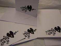 Love Birds Silhouette Notelets/greetings cards set | Panic Tuesday MISI Handmade Shop