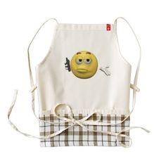 #Phone emoticon zazzle HEART apron - #emoji #emojis #smiley #smilies