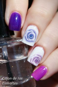 China Glaze and Roses - nailart - decals from @BornPrettyStore