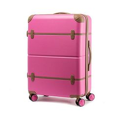 EDDAS EV502 25  20 Inch ABS Pastel Color Vintage Series Hard Type Carry on Luggage Product of Korea 25 Pink Mousse >>> Want additional info? Click on the image.