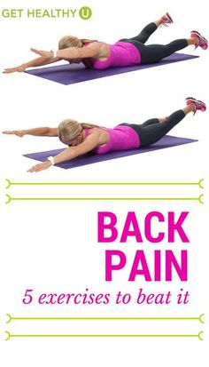 5 Best Exercises To Beat Back Pain - Get Healthy U - Whether you are trying to fix back pain or avoid it, we've got the five best exercises for you! Back pain seems to be as regular as the common cold. Use these to beat it and feel better! Lower Back Pain Exercises, Back Hurts, Rheumatoid Arthritis Treatment, Yoga For Back Pain, Types Of Yoga, Back Pain Relief, Back Muscles, Pain Management, Workout Programs