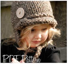 This is a listing for The PATTERN ONLY for The Dakota Cap This hat is handcrafted and designed with comfort and warmth in mind... Perfect for layering through all the seasons... This hat makes a wonderful gift and of course also something great for you or your little one to wrap