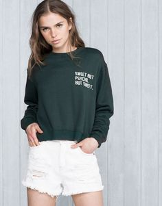 Pull&Bear - pacific girls - sweat - sweat - bouteille - 05591313-V2016