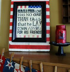 This would be a cool thing to display with military pictures. Patriotic printable and image transfer DIY - using Mod Podge