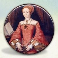 Princess Elizabeth Tudor Pocket Mirror; other designs available.