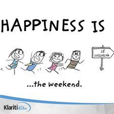 Selamat datang akhir pekan! Punya rencana menarik apa saja untuk dilakukan bersama sahabat dan keluarga pekan ini? Share yuk :) Le Weekend, Tgif, Math, Comics, Happy, Instagram Posts, Math Resources, Comic Books, Comic Book