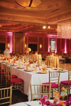 ballroom wedding at the Hilton Nashville Downtown with glittery accents | Kristyn Hogan + Amber Housley #wedding
