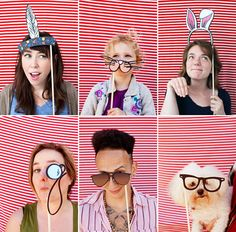 24 DIY Wedding Photo Booth Props with Free Download-I pinned this one to remind us to make a flat-top one.
