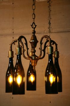 Diffa trend residential design pinterest tabletop wine bottle recycled antique chandelier using wine bottles as globes mozeypictures Choice Image