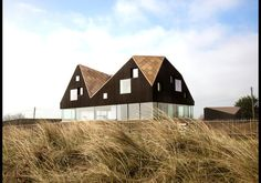 "Funky design. Can't help but think ""barn"" when I see this one!  The Dune House, Suffolk, United Kingdom"