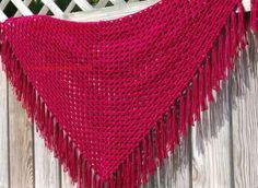Maternity Dresses & Nursing Tops – Red shawl mod 0008 152 * 36cms – a unique product by LasLaboresdeCarmita on DaWanda