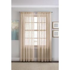 Sally' 2-Pack Embroidered Sheer Voile Panels - Curtain for $9.94