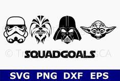 Star Wars SVG / Yoda SVG / Darth Vader SVG / Chewbacca svg / Storm Trooper svg / Squad Goals / Star Wars Clipart / Star Wars Vector